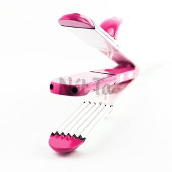 Máy tạo kiểu tóc uốn duỗi bấm sóng 3 in 1 Shinon - 8088 (Hồng)