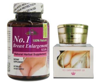 Bộ kem và viên nở ngực Breast Enlargement USA 60 viên/hộp và lọ 50gr