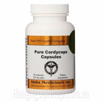 Đông Trùng Hạ Thảo Thiên Nhiên Aloha Pure Cordyceps Capsules 90 Viên