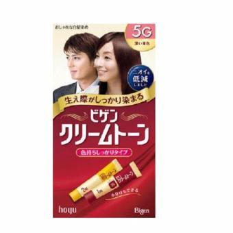 Thuốc nhuộm tóc Nhật Bản Bigen Hoyu 5G (Đen ngả nâu)