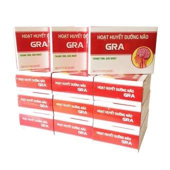 Bộ 12 hộp thực phẩm chức năng - Hoạt huyết dưỡng não Vioba GRAe hộp 3 vỉ x 10 viên (Đỏ)