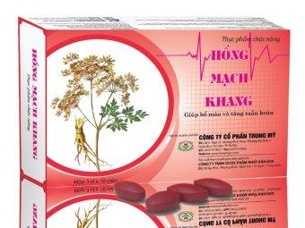 TPCN viên nén hỗ trợ điều trị huyết áp thấp Hồng Mạch Khang
