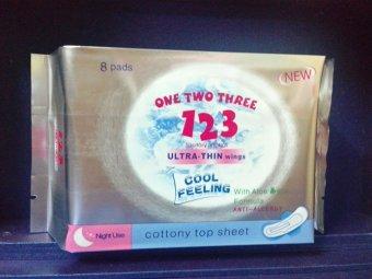 Băng vệ sinh ONE TWO THREE 123 ĐÊM 8 miếng