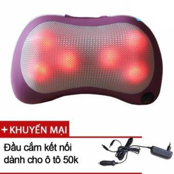 Gối massage cổ hồng ngoại 6 bi PL-819 + Tặng đầu cắm ô tô