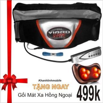 Đai massage nóng và rung Vibro Shape (Đen) + Tặng gối mát xa hồng ngoại