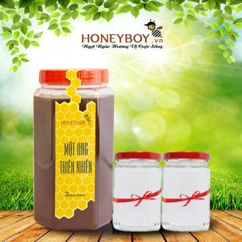 Mật ong thiên nhiên Honeyboy 1Kg Tặng kèm 2 lọ thủy tinh100ml