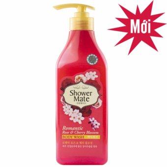 Sữa tắm dạng Gel ngăn ngừa các vết rám đen Showermate hương hoa Đào và hoa Hồng Hàn Quốc 550ml - Hàng Chính Hãng