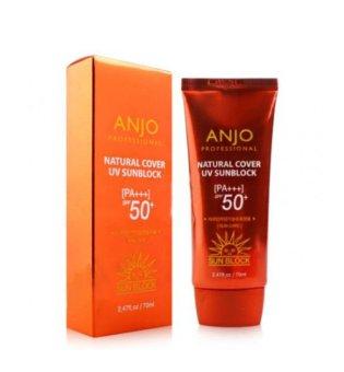 Kem chống nắng Anjo Natural Cover UV Sunblock SPF50+ PA+++ 70ml