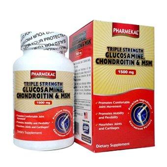 Viên uống hỗ trợ hỗ trợ và phòng ngừa thoái hóa khớp PHARMEKAL Triple Strength Glucosamine 1500mg 60 viên
