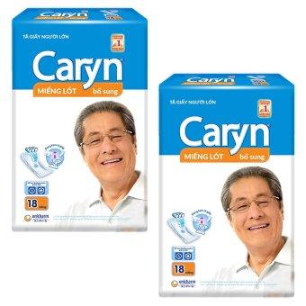 Bộ 2 gói miếng lót bổ sung Unicharm Caryn 18M