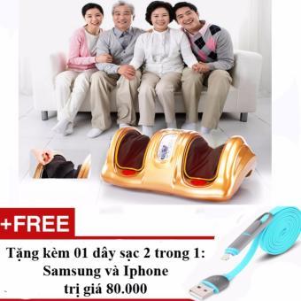 Máy massage bắp chân và bàn chân thế hệ mới + Tặng kèm sạc điện thoại 2 trong 1 cho Iphone và Samsung