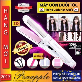 Máy uốn duỗi tóc kỹ thuật của KOREA đa dụng, cho makeup chuyên + Tặng (lược,kẹp tóc,miếng dán tóc) cho mái tóc đẹp trang điểm - PEN APPLE SUPERSTORE