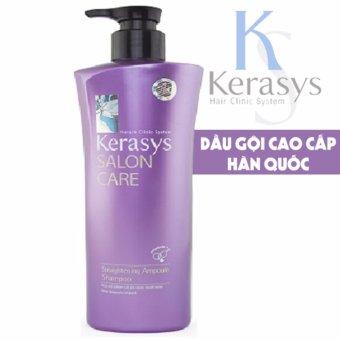 Dầu gội phục hồi và củng cố cấu trúc tóc Kerasys Salon care Straightening Hàn Quốc 600ml - Hàng Chính Hãng
