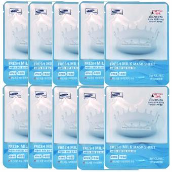 Mua Bộ 10 gói mặt nạ sữa tươi 3W Clinic Fresh Milk Mask Sheet 23ml X 10 giá tốt nhất