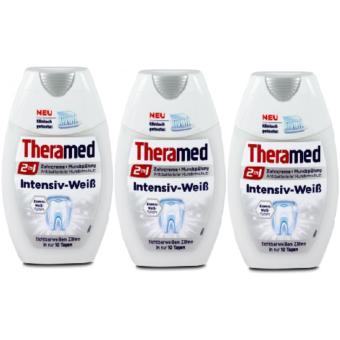 Bộ 3 tuýp kem đánh răng Theramed 2 in 1 Intensiv-WeiB 75mlx3