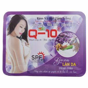 Kem và bột tắm trắng tinh chất Ốc Sên - Sữa Dê - Lavender Q-10 Sữa Dê