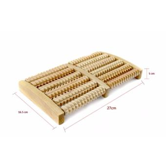 Bàn lăn chân gỗ Massage 5 hàng tiêu chuẩn (DCYK)