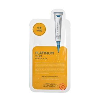 Mặt nạ dưỡng da giúp định hình V-line cho khuôn mặt Mediheal Platinum V-life Essential Mask 25ml
