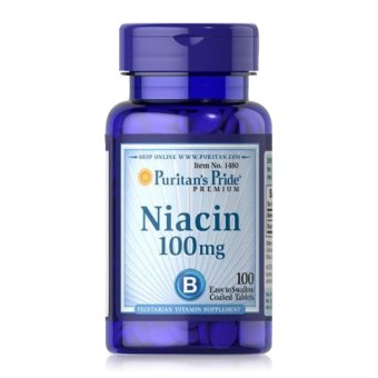 Viên uống bổ sung Vitamin B3 PP hỗ trợ ngăn ngừa nhiệt miệng, viêm da, chống lão hóa Puritan's Pride Niacin 100mg 100 viên.