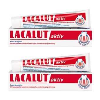 Combo 2 hộp kem đánh răng ngừa viêm nướu nha chu Lacalut Aktiv