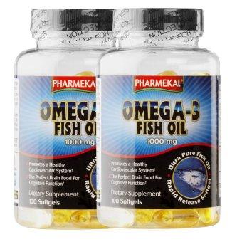 Bộ 2 hộp viên dầu cá Pharmekal Omega-3 1000mg 100 viên