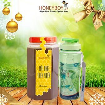 Mật ong thiên nhiên Honeyboy 1Kg + Tặng bình nước nhựa Matsu 500ml (Có quai)
