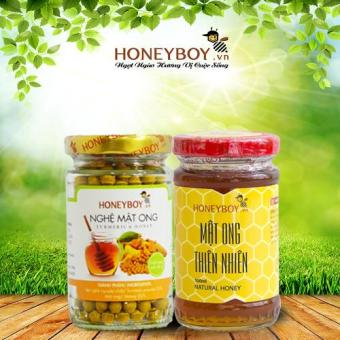 Bộ Mật ong thiên nhiên Honeyboy 100ml và Nghệ mật ong 80g