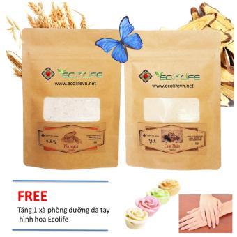 Combo bột đắp mặt nạ cam thảo và yến mạch dưỡng da, làm đẹp da Ecolife