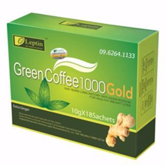 Trà xanh giảm cân GREEN COFFEE LEPTIN 1000 hương gừng (18 gói)