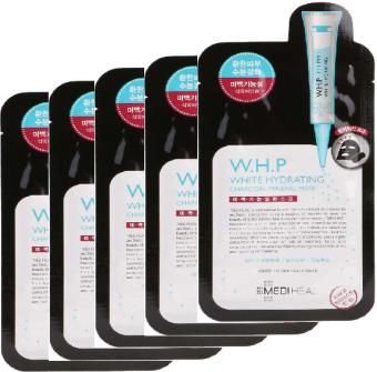 Bộ 5 Mặt nạ than hoạt tính Mediheal W.H.P White Hydrating Charcoal-mineral Mask