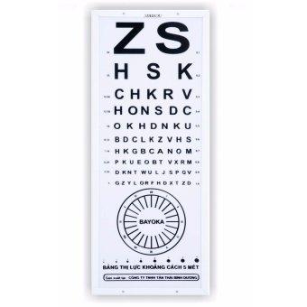 Bảng kiểm tra thị lực khoảng cách 5m chữ cái