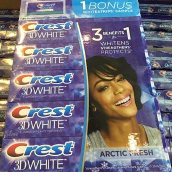 Kem đánh răng Crest 3D white 3 Benefits in1 198g