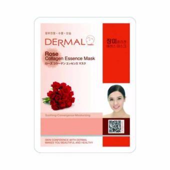 Mặt nạ dưỡng da tinh chất hoa hồng Dermal Rose Collagen Essence Mask 23g