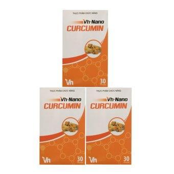 Liệu trình 3 hộp chăm sóc hệ tiêu hoá Vh nano curcumin