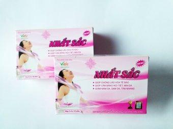 Bộ 2 hộp NHẤT SẮC làm mịn sáng da và tăng cường sinh lý nữ 3 vỉ x 10 viên (Hồng)