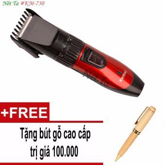 Tông đơ cắt tóc cho trẻ em Kemei KM-730 tặng kèm bút gỗ cao cấp trị giá 100.000