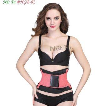 Đai nịt bụng giảm mỡ cho vòng eo thon gọn Nét Ta HGB02 Size XXXL (hồng phối đen)