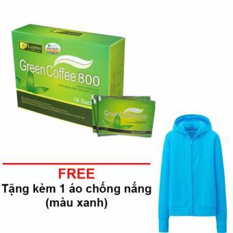 Cafe Xanh Giảm Cân Leptin Green coffee( Của Mỹ) + Tặng 1 Áo Chống Nắng (800)