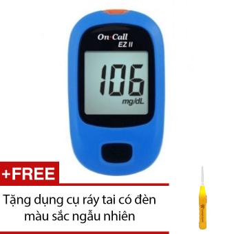 Máy đo đường huyết Acon On call EZ II (Xanh) + Tặng dụng cụ ráy tai có đèn màu sắc ngẫu nhiên