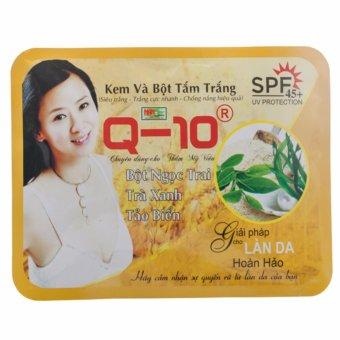 Kem và bột tắm trắng tinh chất Bột Ngọc Trai - Trà Xanh - Tảo Biển Q-10 Sữa Dê