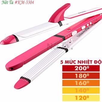 Máy duỗi tóc chỉnh nhiệt chuyên nghiệp 3in1 Nét Ta KM-3304