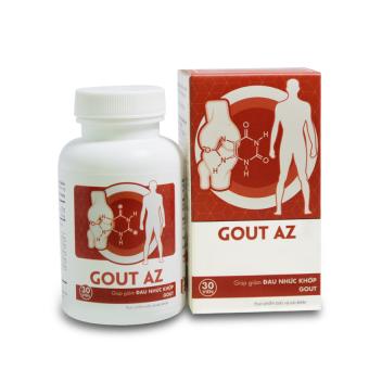 Hộp Gout AZ giảm đau nhức khớp 30 viên