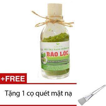 Bột trà xanh dưỡng da Bảo Lộc 50g + Tặng 1 cọ quét mặt nạ