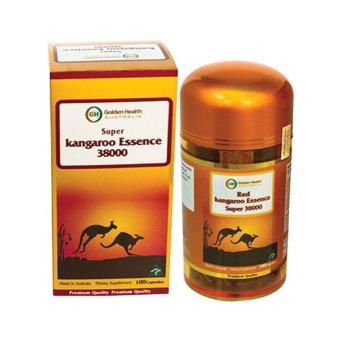 Tinh chất Kangaroo Golden Health Red Kangaroo Essence Super 38000mg hỗ trợ sinh lý nam 100 viên