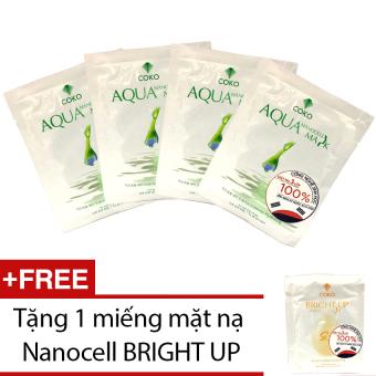 Bộ 4 mặt nạ Nanocell Aqua + Tặng mặt nạ Nanocell Bright Up