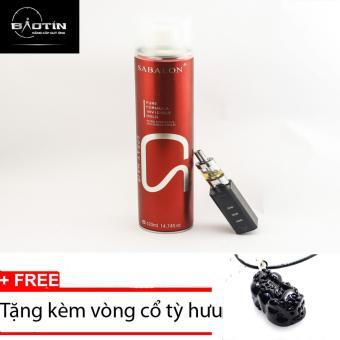 Gôm keo xịt tóc tạo kiểu sành điệu Sabalon CS đỏ 420ml+Tặng kèm vòng cổ tỳ hưu đen