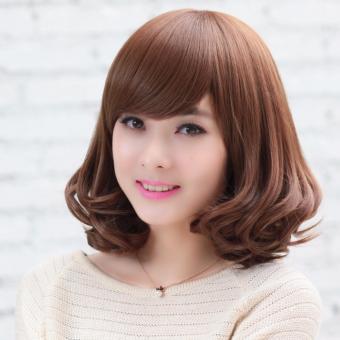 Tóc giả nữ kiểu ngắn - TGN001- màu nâu sáng
