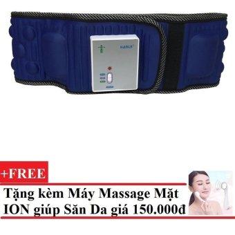 Đai Mát Xa Giảm Béo Bụng X5 + Tặng Máy massage mặt DS-039 bằng ion (Trắng)