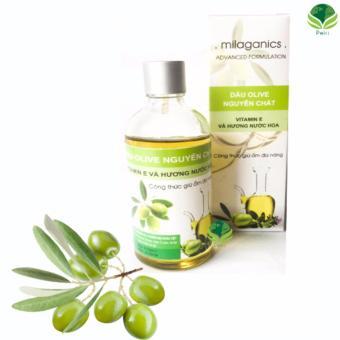 Dầu Olive Milaganics nguyên chất 100ml