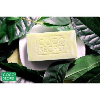 Xà bông dừa trà xanh trị mụn dưỡng da